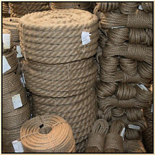 100% Natural Jute Hessian Rope Cord Braided Twisted Boating Sash Garden Decking