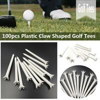 "100 Pcs WHITE Golf Step GOLF TEES 2 3/4"" 70mm/83mm Plastic Claw Shaped Golf Tees"