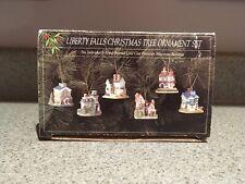 Liberty Falls Christmas Tree Ornament Set of 6 Village Buildings