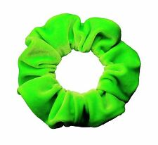 Neon Green Velvet Scrunchie Ponytail Holder Hair Accessories Made in the USA