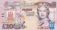 British Gibraltar 20 pounds (2004) Tercentenary Commemorative QE2 B129 P-31  UNC