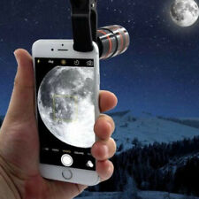 12X Long Zoom Len Clip-on Phone Camera Optical Telescope For  Phone Samsung
