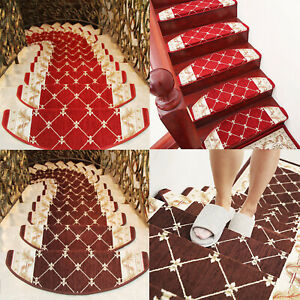 1pcs Mats Step Staircase Stair Tread Carpet Non Slip Mat Protection Cover Pads
