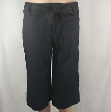 Banana Republic Black Cropped Pants Trousers - Size 6 - Fabric Belt