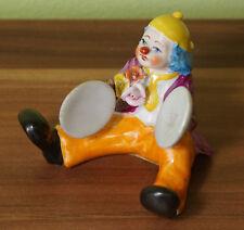Schöne Dekofigur aus Porzellan Clown mit Paarbecken  Musiker Alba Iulia (CC3)