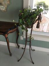 Vintage Italian Gold Gilt Tassel Rope Plant Stand Hollywood Palm Beach Regency
