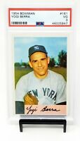 1954 Bowman #161 HOF NY Yankees YOGI BERRA Vintage Baseball Card PSA 3 VERY GOOD