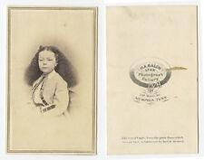 CDV STUDIO PORTRAIT GIRL W/ LONG HAIR FROM MEMPHIS, TENN, BY BALCH