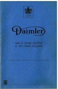 DAIMLER V8 250 SOVEREIGN (420 & XJ6) DS420 LIMOUSINE '68 SALES & SERVICE BOOKLET