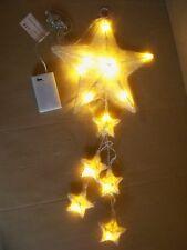 LED Sterne goldener Zauber 6 Sterne 15 LED`S