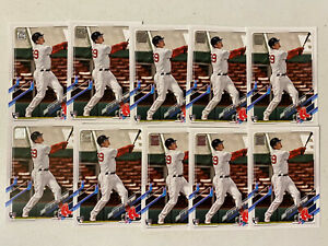 (10) 2021 Topps Series 1 BOBBY DALBEC Base Rookie Card Lot (x10) Red Sox RC #26