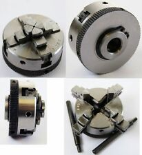 Soba 4 Jaw Self Centering Lathe Chuck 50 Mm Dia M12 Thread (ref 146200)