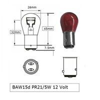 10 x PR21/5W rot 12V 21/5W BAW15d Rücklicht Bremslicht E8 Prüfzeichen LongLife