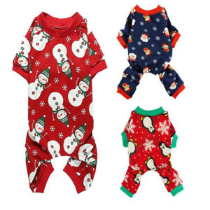 One Lovely Cotton Dog Cat Pajamas Cartoon Small Pet Puppy Jumpsuit Home Apparel