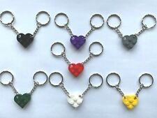 Heart Keyring / Keychain made with LEGO bricks - Perfect Valentines day gift