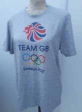 Adidas Mens Size M Grey London 2012 Olympic Games Top T Shirt Venue Collection