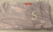 SUPREME S LOGO HOODED SWEATSHIRT, LT PINK SIZE LARGE (IN HAND) SS20 AUTHENTIC
