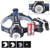 20000LM XM-L XML T6 LED Head Torch 18650 Headlamp Headlight Battery Charger Sets