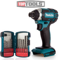 Makita DTD152Z 18v Impact Driver With Makita P-51889 13 Pcs Drill Bit Set
