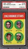 1963 TOPPS #158 ROOKIE STARS PSA 8  *ADT1827