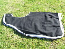Ecotak Wool Cutaway Removable Quarter Sheet/exercise rug - Black with white & gr