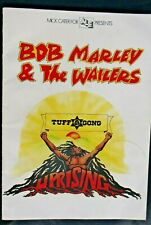 Bob Marley Vintage Original Rare 1980 'Uprising' program from the Final Tour