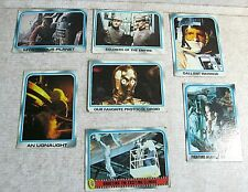 Lot of 1980 Star Wars cards Empire Strikes Back #'s 157 162 175 179 204 228 255