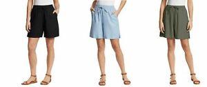 NWT! Gloria Vanderbilt Ladies Linen Blend Short Casual Classy  1406114