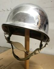Vietnam Era Us Army Chrome M-1 Helmet With Airborne Liner, Good Condition