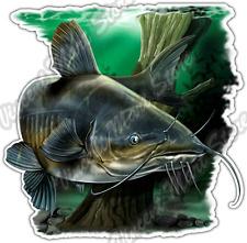 """Catfish Swim Fishing Fisherman Wildlife Fish Car Bumper Vinyl Sticker Decal 4.6"""""""