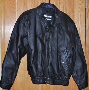 Men's Vintage Ash Creek Trading Leather Jacket, Black - Small