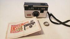 Kodak Instamatic 134 Vintage Flash Camera, Untested. with Manuel.