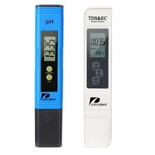 Water Quality Test Meter TDS PH EC Temperature 4 in 1 Set (Blue)