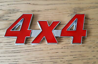 Red & Silver Chrome 3D 4X4 Metal Badge Sticker for Renault Modus Kangoo Zoe DCi