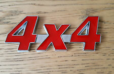 ROSSO & ARGENTO CROMATO 3D 4x4 METAL BADGE ADESIVO PER JEEP GRAND CHEROKEE COMMANDER