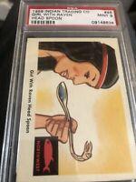 1959 Fleer Indian #46 Girl With Raven Head Spoon PSA 9