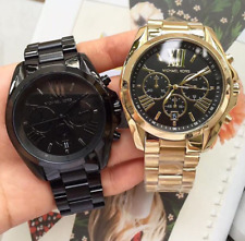 Michael Kors Bradshaw Couple Watch Oversize Black-tone and Gold-tone