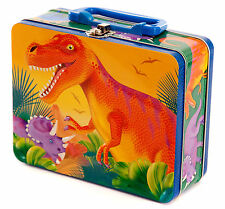 Dinosaur Prehistoric Metal Lunch Box, Stationery tin