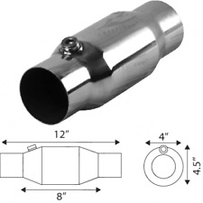 "2.5"" Inch 100 Cell High Flow Catalytic Converter Metal Cat"