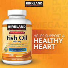 Kirkland Signature Omega-3 Fish Oil 1000 mg 400 ct softgels vitamin supplement