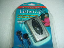 Hearing Aid Listen Up Personal Sound Amplification Amp Amplifier Health Care
