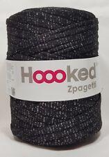 Hoooked `Zpagetti Stoffgarn Schwarz Glitzer Diamant` Neu, Häkeln, Stricken 742