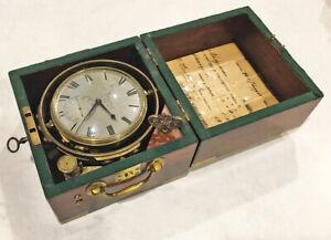 ^^RUNNING^^ EARLY 1800's MARINE CHRONOMETER #913 by MOLYNEAX (LONDON) NO RESERVE