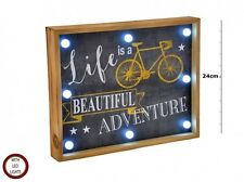 LED light up wooden box sign  Life is a Beautiful Adventure
