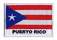 Ecusson patch patche drapeau PORTO RICO 70 x 45 mm Pays Monde brodé à coudre