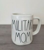 NEW RAE DUNN by Magenta MILITARY MOM Coffee Tea Mug Farmhouse Home Decor
