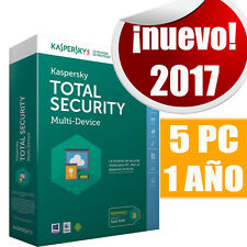 Kaspersky Total Security 5 Pc dispositivos 1 año Original