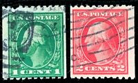 US Stamp SC #441-442 441 442 Washington Used CV:$46.5