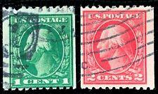 US Stamp SC #441-442 441 442 Washington Used CV:$46.5