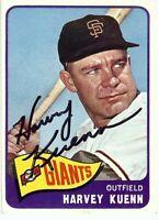 Harvey Kuenn Signed Autographed Baseball Card 1965 Topps Giants GX19590